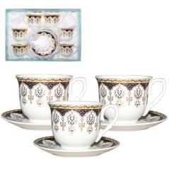 146-02 Сервиз чайный 12пр (чашка-180мл,блюдце-13см) Клеопатра