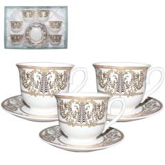146-06 Сервиз чайный 12пр (чашка-180мл,блюдце-13см) Аменхотеп