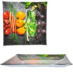 307 Тарелка квадрат 10' - 25см (Овощи)