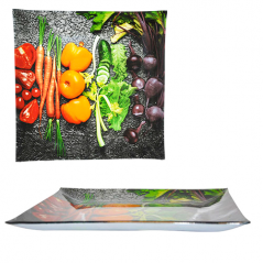 306 Тарелка квадрат 8' - 20см (Овощи)