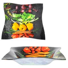 378 Салатник квадрат Элегант 6' - 15см (Овощи)