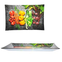 381 Тарелка прямоуг. 25 * 15см (Овощи)