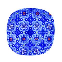 3715 Тарелка кв. с кр.краями 8' - 20см (Восток)