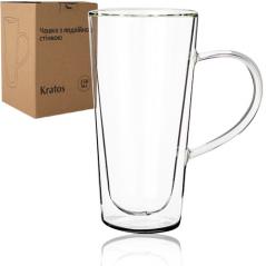 201-5 Чашка с двойной стенкой конус 350мл Kratos
