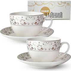1753-2 Сервиз чайный 12пр. (чашка-280мл, блюдце-15см) Констанция