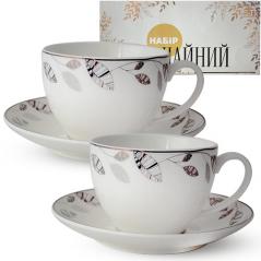 1753-3 Сервиз чайный 12пр. (чашка-280мл, блюдце-15см) Патио
