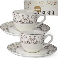 1453-2 Сервиз кофейный 12пр. (чашка-110мл, блюдце-13см) Констанция