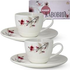 1453-6 Сервиз кофейный 12пр. (чашка-110мл, блюдце-13см) Космея
