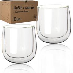 201-6 Набор стаканов с двойной стенкой 260мл Дуо