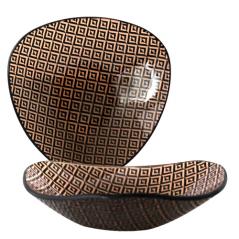 396-1 Салатник треуг.  6,5' - 16,5см (Аргайл)