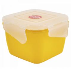 168059 т.желт-прозр Контейнер универсальный 'Фиеста' (квадратный) 0,45л (темно-<a href='http://snt.od.ua/ru/poisk.html?q=желтый' />желтый</a>/прозрачный)