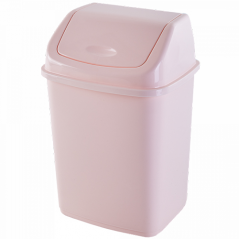 122061 св-роз Мусорное ведро 5л (светло-розовый)