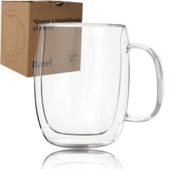 201-8 Чашка с двойной стенкой 350мл Barel