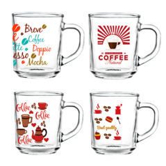 9304-5 Чашка стеклянная 220мл <a href='http://snt.od.ua/ru/poisk.html?q=Кофе' />Кофе</a> микс
