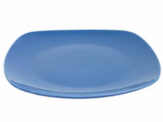 3113 Тарелка квадратная 26 см синяя