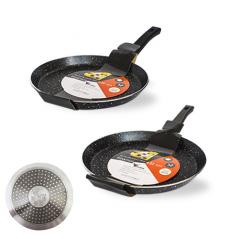 8081-22 Сковорода для блинов с антиприг. мраморным покрытием Hi-Tech 22см