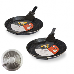 8081-24 Сковорода для блинов с антиприг. мраморным покрытием Hi-Tech 24см