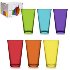 7-016 Набор стаканов 6шт. Радуга 320мл