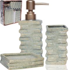 887-11-01 Набор аксессуаров для ванной комнаты Атлантида 3пр