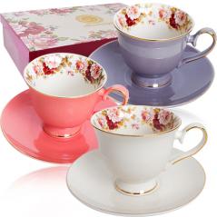 1755 Набор чайный 12пр (чашка-200мл, блюдце-15см) Перламутр