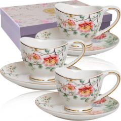1758 Набор чайный 12пр (чашка-320мл, блюдце-15см) Магия цветов