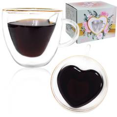 201-9 Чашка с двойной стенкой 280мл Внутреннее сердце