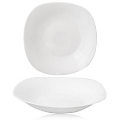 30162-00 Тарелка суповая 9' Белая квадрат