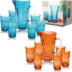 9448 Набор 7 пр. (графин 1,2л+6 стаканов по 320мл) 2 цвета микс