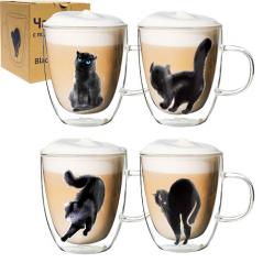 201-21 Чашка с двойной стенкой 400мл Black cat