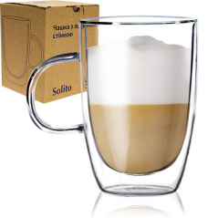 201-13 Чашка с двойной стенкой 400мл Солито