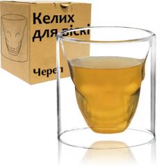 202-3 Бокал для виски Череп 200мл