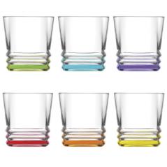 7-029 Набор стаканов Цветовое дно 315мл