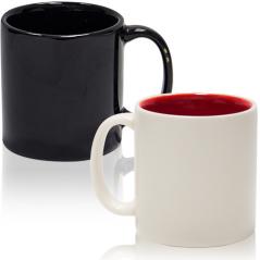 13650-6-1 Чашка черная/белая 120мл