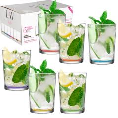 7-039 Набор стаканов Цветовое дно 520мл