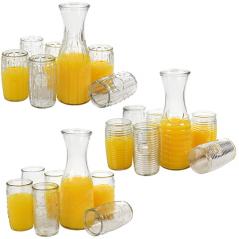 9055 Набор для сока 7 пр. (кувшин - 1050мл, 6 стаканов - 440мл)