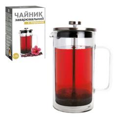 9154 Заварочный чайник с поршнем 350мл (боросиликатное, упрочненное стекло, с двойной стенкой)