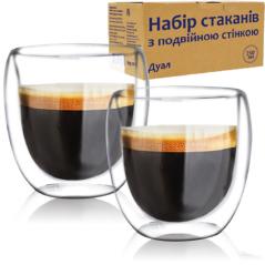 201-31 Набор стаканов с двойной стенкой 250мл Дуал