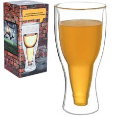 201-24 Бокал с двойной стенкой Beer 350мл