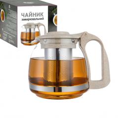 9160 Заварочный чайник 700мл (эко пластик+ боросиликатное, упрочненное стекло)
