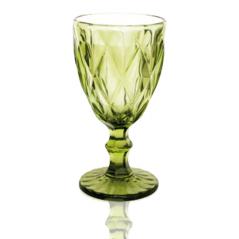 9459-3 Бокал для вина 260мл Грани изумруд