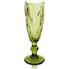 9454-3 Бокал для шампанского 200мл Грани изумруд
