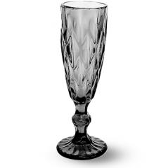 9454-4 Бокал для шампанского 200мл Грани графит