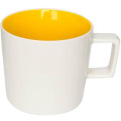 4178-02 Чашка 440мл Бело-желтая