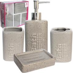 888-06-030 Набор 4пр Bath (мыльница, подставка для зубных щеток, стакан, диспенсер для мыла)