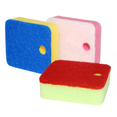 92108 Набор губок для мытья посуды 3шт.9*8см с функцией put away