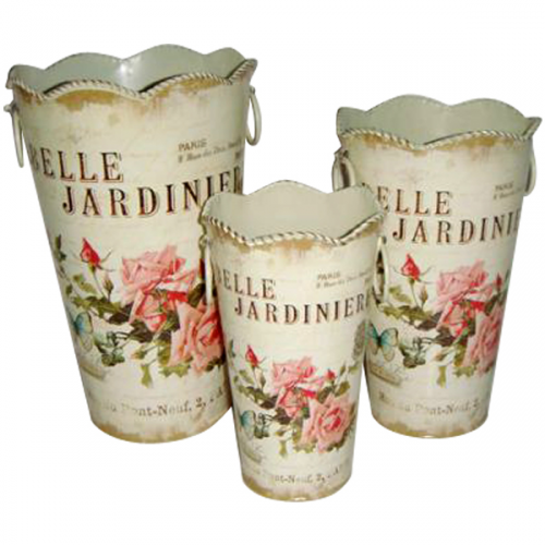 555-027-1 Декоративная металлическая ваза 17*28см Волшебный сад