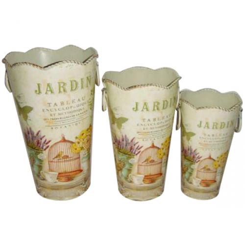 555-030-1 Декоративная металлическая ваза 17*28см Прованс