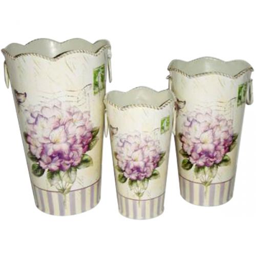 555-031-2 Декоративная металлическая ваза <a href='http://snt.od.ua/ru/poisk.html?q=Гортензия' />Гортензия</a> 14*23см
