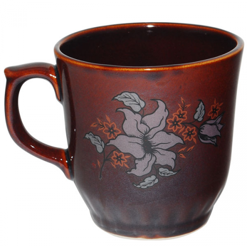 50202 Чашка Сумы коричневая с деколью 350мл