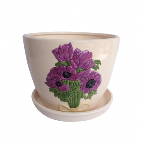 647-005/4 Горшок Пурпурные <a href='http://snt.od.ua/ru/poisk.html?q=цветы' />цветы</a> 9,5*8